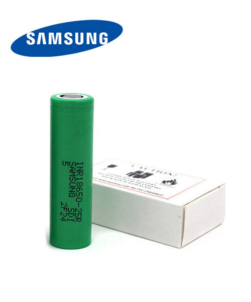 Samsung 25R 2500mAh Battery - Flat Top- Available On ELiquid Universe