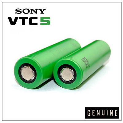 Sony VTC5 2600mAh 30A 18650 Batteries | Two Pack by Sony Available on ELiquid Universe