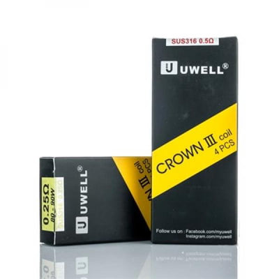 Uwell Crown 3 III Replacement Coils (4-Pack) by UWELL Available on ELiquid Universe