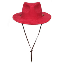 Cowboy Suede Red Wide Brim