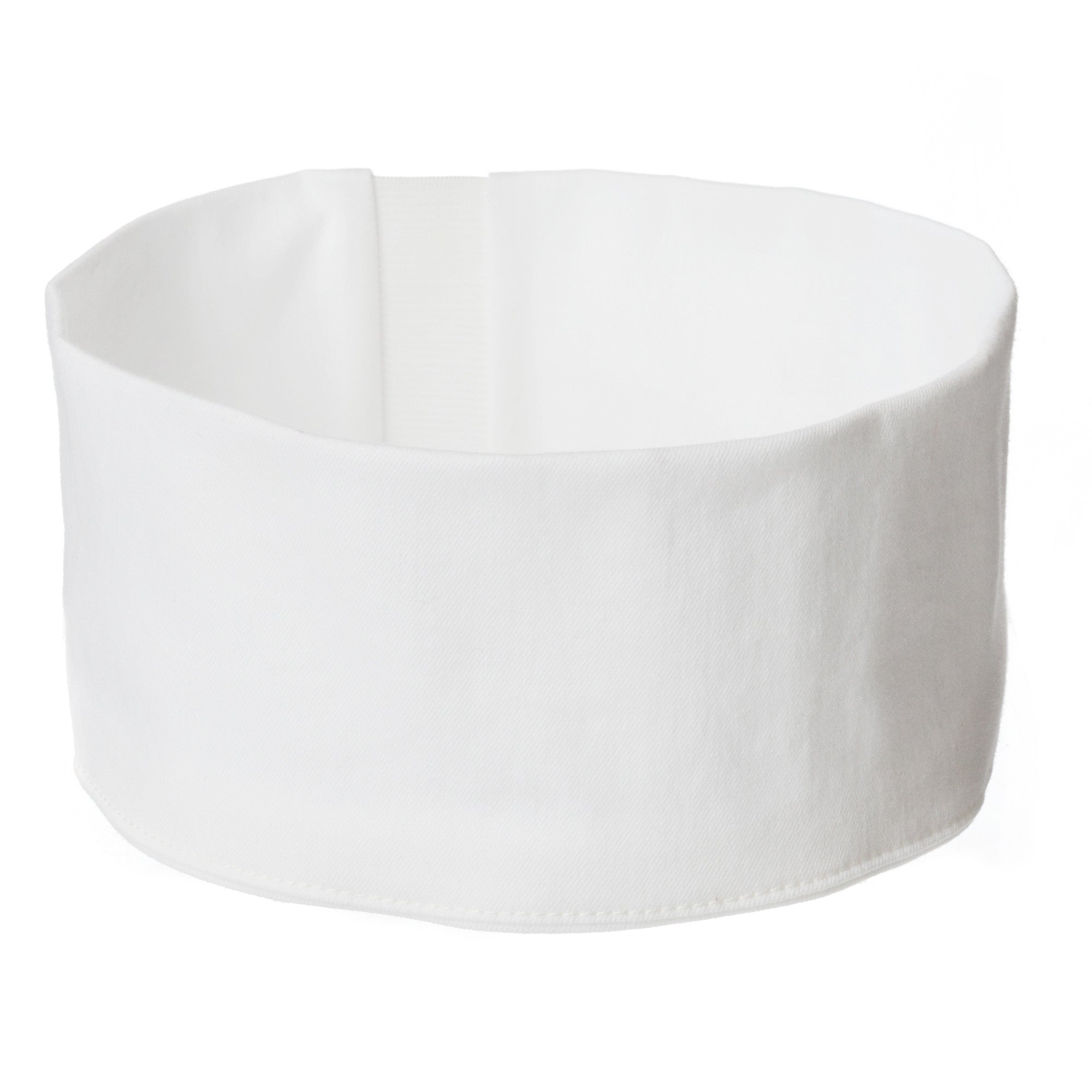 white cotton headband