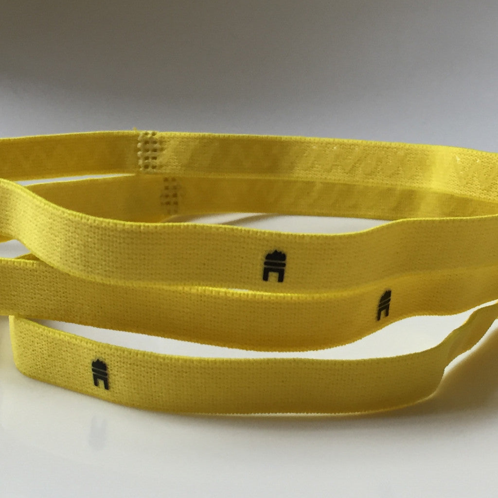 thin yellow elastic hairband
