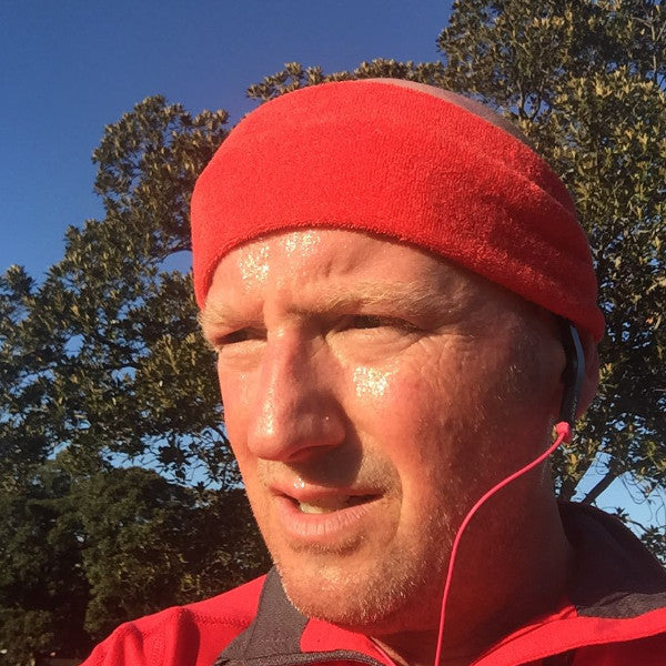 red running headband