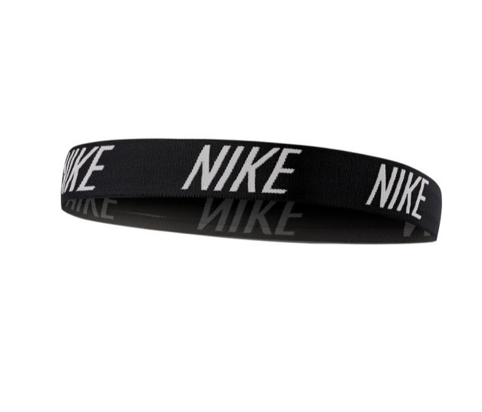 Nike black elastic wide headband