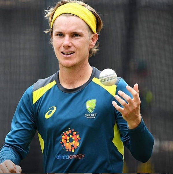 adam zampa yellow headband
