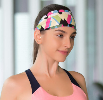 multi coloured yoga headband