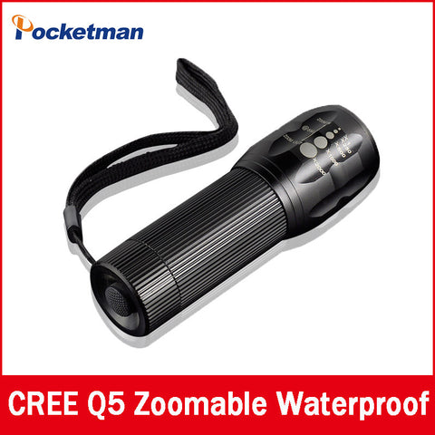 Mini Tactical Flashlight Zoomable In & Out LED