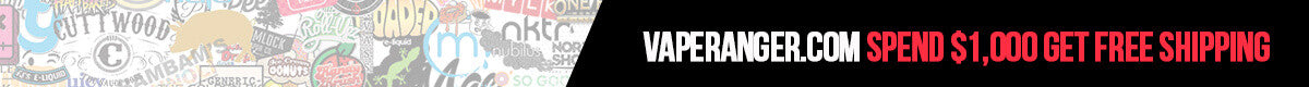 Free Shipping on all orders $1,000+ USA only at VapeRanger Wholesale