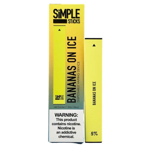 Apollo Simple Sticks Bananas on Ice Disposable Device- VapeRanger Wholesale eLiquid/eJuice