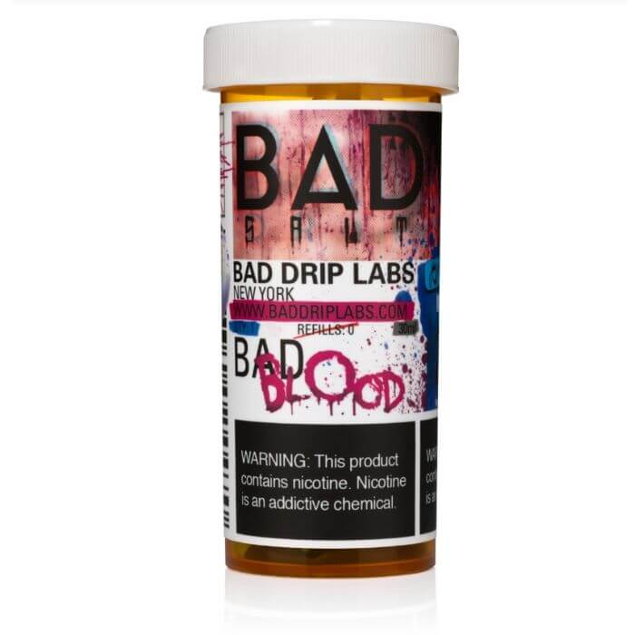 Bad Blood by Bad Drip Nicotine Salt eJuice Wholesale eLiquid | eJuice Wholesale VapeRanger