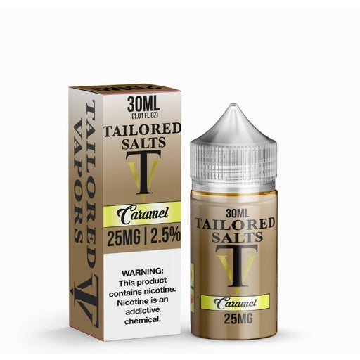 Caramel Tobacco by Tailored Vapors Nicotine Salt eJuice- VapeRanger Wholesale eLiquid/eJuice