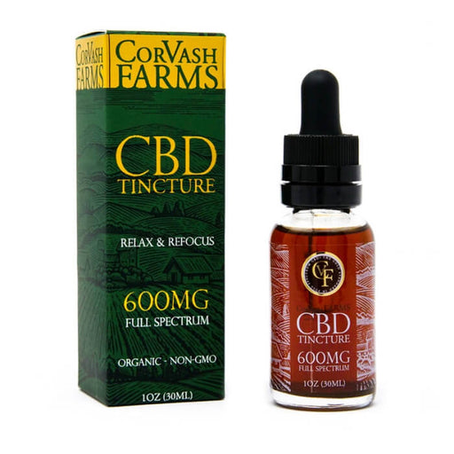 CorVash Farms 600MG CBD Tincture- VapeRanger Wholesale eLiquid/eJuice