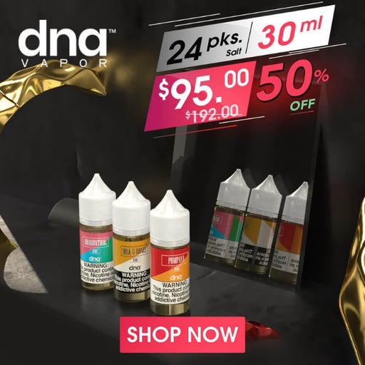 DNA Vapor Nicotine Salts Intro Pack- VapeRanger Wholesale eLiquid/eJuice