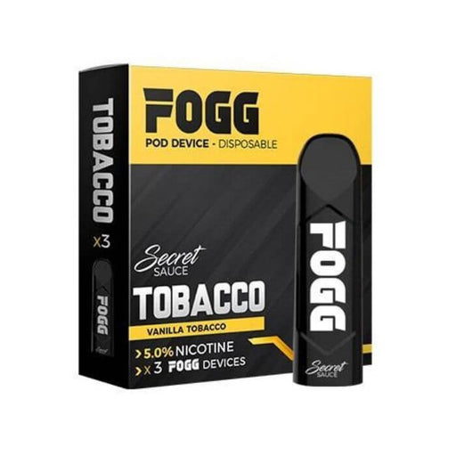 Fogg Disposable Pod Device - Tobacco (3-Pack)- VapeRanger Wholesale eLiquid/eJuice