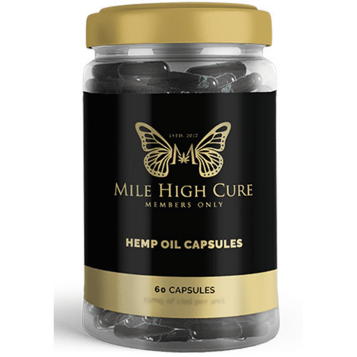 Mile High Cure CBD Full Spectrum Hemp Capsules- VapeRanger Wholesale eLiquid/eJuice