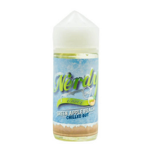 Green Apple Peach Chilled Out by Nerdy eJuice- VapeRanger Wholesale eLiquid/eJuice