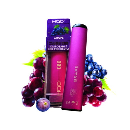 HQD CBD Grape Disposable Device- VapeRanger Wholesale eLiquid/eJuice