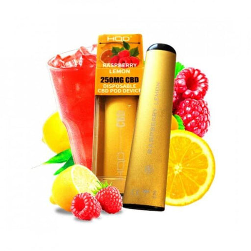 HQD CBD Raspberry Lemon Disposable Device- VapeRanger Wholesale eLiquid/eJuice