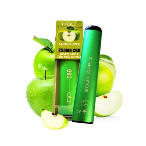 HQD CBD Sour Apple Disposable Device- VapeRanger Wholesale eLiquid/eJuice