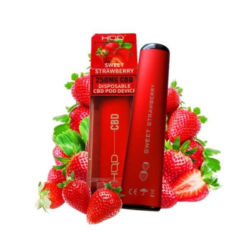 HQD CBD Sweet Strawberry Disposable Device- VapeRanger Wholesale eLiquid/eJuice