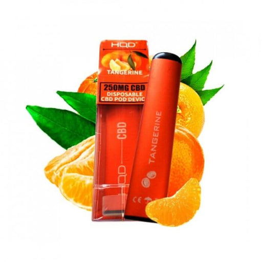 HQD CBD Tangerine Disposable Device- VapeRanger Wholesale eLiquid/eJuice