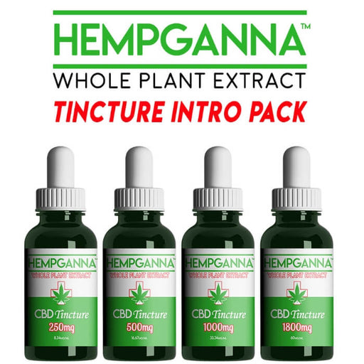 Hempganna CBD Full Spectrum Tincture Intro Pack- VapeRanger Wholesale eLiquid/eJuice