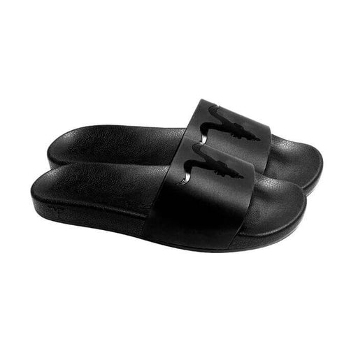 Ignite Apparel Mens Black Slides Black Logo- VapeRanger Wholesale eLiquid/eJuice