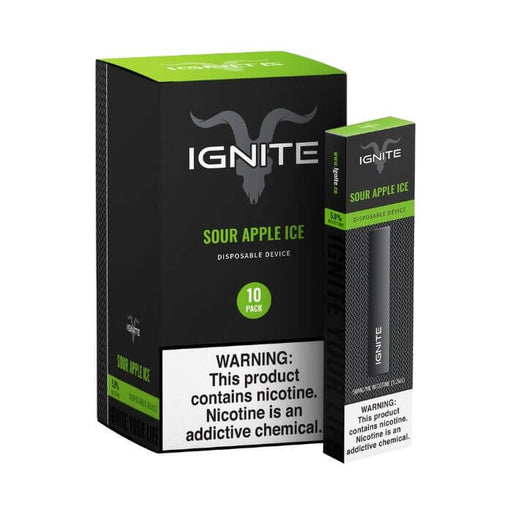 Ignite Sour Apple Ice Disposable Device- VapeRanger Wholesale eLiquid/eJuice