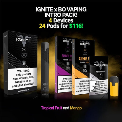 Ignite x Bo Vaping Intro Pack- VapeRanger Wholesale eLiquid/eJuice