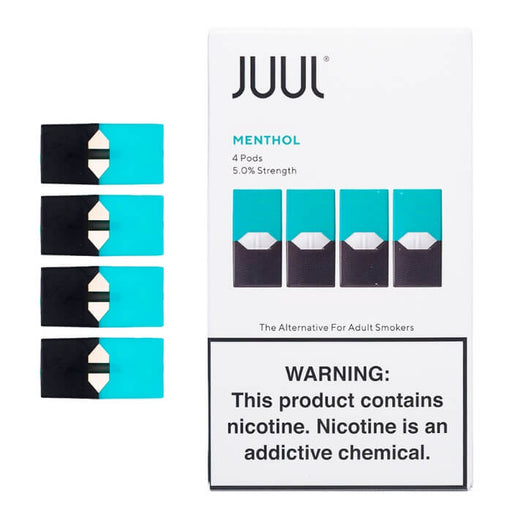 JUUL Menthol Pods [5% Nic] (4-Pack)- VapeRanger Wholesale eLiquid/eJuice