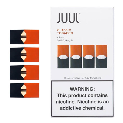 JUUL Classic Tobacco Pods [5% Nic] (4-Pack)- VapeRanger Wholesale eLiquid/eJuice