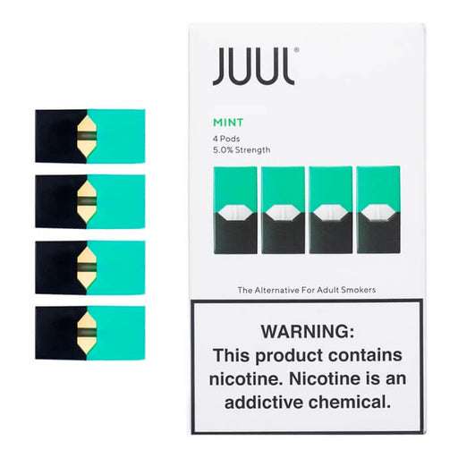 JUUL Mint Pods [5% Nic] (4-Pack)- VapeRanger Wholesale eLiquid/eJuice