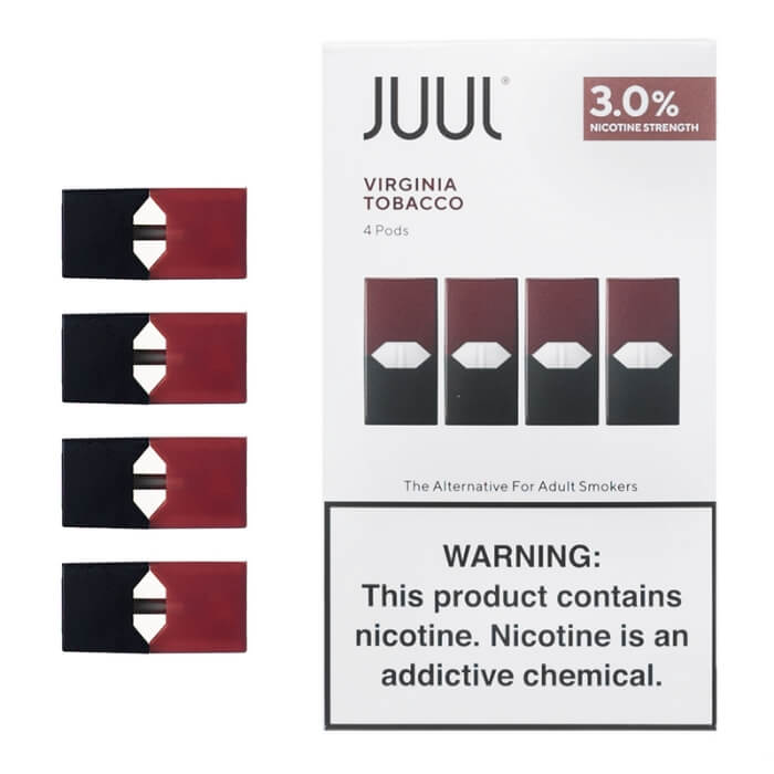 Image result for juul pods virginia tobacco 3% nicotine