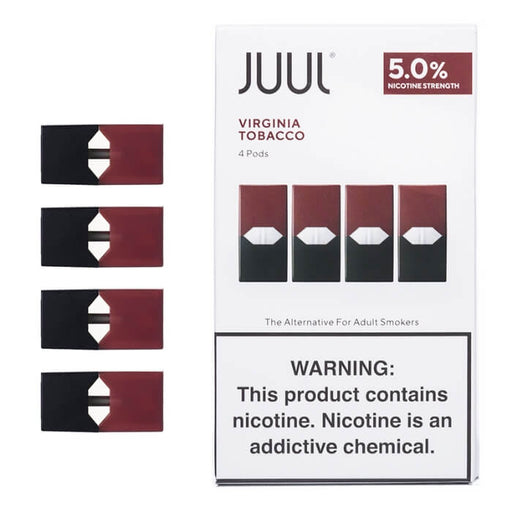 JUUL Virginia Tobacco Pods (4-Pack)- VapeRanger Wholesale eLiquid/eJuice