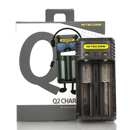 Nitecore Q2 2-Slot Universal Battery Charger- VapeRanger Wholesale eLiquid/eJuice