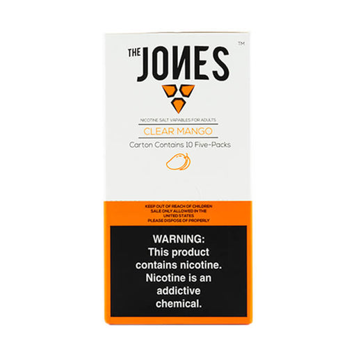 The Jones Pods Clear Mango- VapeRanger Wholesale eLiquid/eJuice