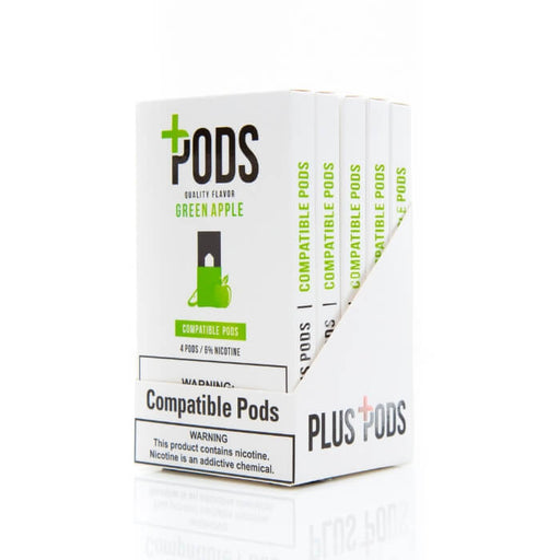 Plus Pods Green Apple- VapeRanger Wholesale eLiquid/eJuice