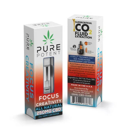 Pure Potent CBD Focus & Creativity CBD Vape Cartridge- VapeRanger Wholesale eLiquid/eJuice