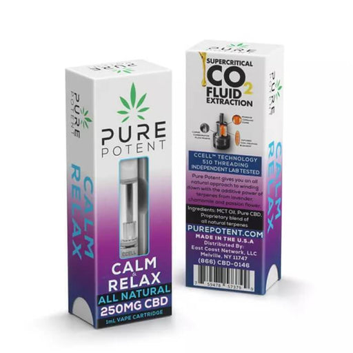 Pure Potent CBD Calm & Relax CBD Vape Cartridge- VapeRanger Wholesale eLiquid/eJuice