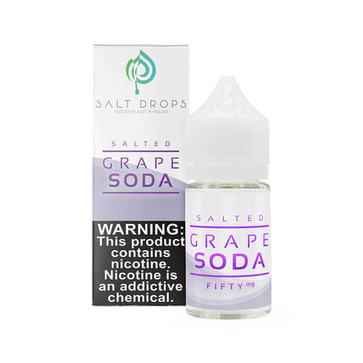 Salted Grape Soda by Salt Drops E-Liquid- VapeRanger Wholesale eLiquid/eJuice