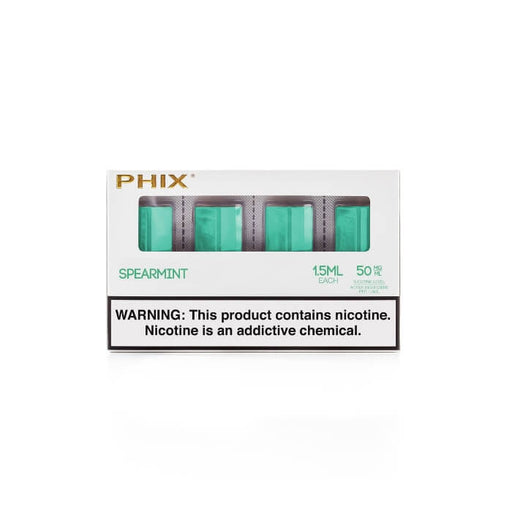 Spearmint Pods by Phix Vapor (4 Pack) (CA-Tax)- VapeRanger Wholesale eLiquid/eJuice