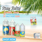 Stay Salty Combo E-Liquid Intro Pack eLiquid by Stay Salty Nicotine Salt E-Liquid - eJuice Wholesale on VapeRanger.com