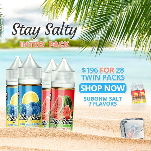 Stay Salty (SubOhm Salt) E-Liquid Intro Pack- VapeRanger Wholesale eLiquid/eJuice