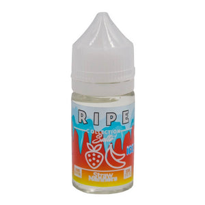 Straw Nanners On Ice by The Ripe Collection Nicotine Salt by Vape 100 E-Liquid