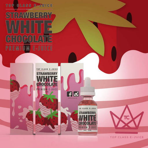 Strawberry White Chocolate by Top Class eJuice - Unavailable- VapeRanger Wholesale eLiquid/eJuice