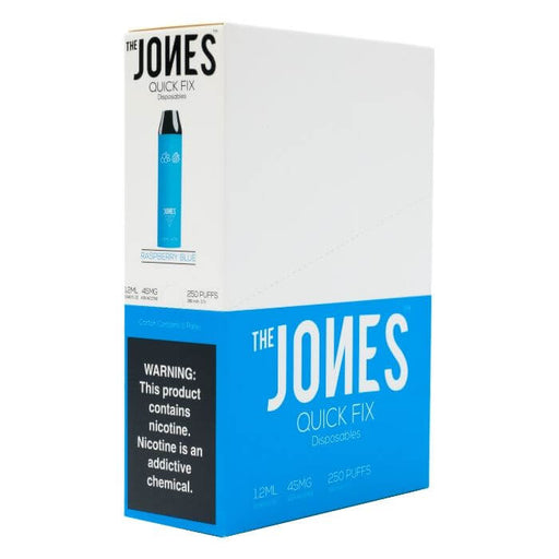 The Jones Quick Fix Blue Raspberry Disposable Device- VapeRanger Wholesale eLiquid/eJuice