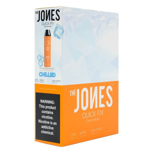 The Jones Quick Fix Clear Mango Chilled Disposable Device- VapeRanger Wholesale eLiquid/eJuice