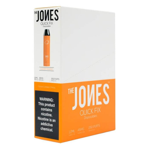 The Jones Quick Fix Clear Mango Disposable Device- VapeRanger Wholesale eLiquid/eJuice