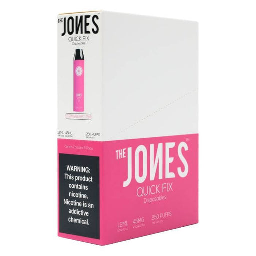 The Jones Quick Fix Strawberry Pink Disposable Device- VapeRanger Wholesale eLiquid/eJuice