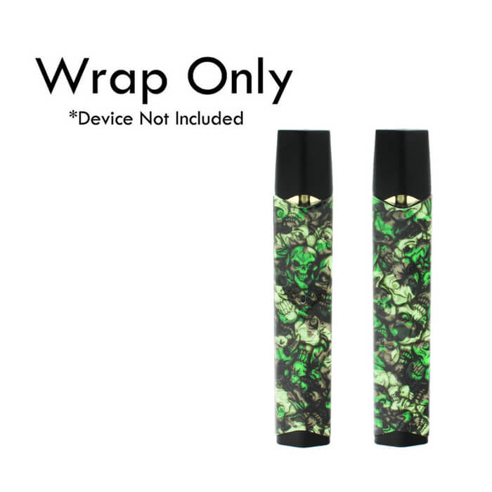 VCG Infinix Wraps: Green Camo Skulls Wholesale eLiquid | eJuice Wholesale VapeRanger
